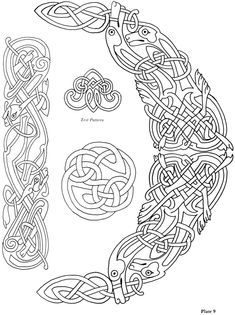 Celtic Knots ~ Choose from 24 Designs ~ Iron-on Embroidery Transfers for sewing Norse Tattoo, Celtic Tattoos, Viking Tattoos, Thai Tattoo, Maori Tattoos, Tribal Tattoos, Viking Embroidery, Iron On Embroidery, Embroidery Transfers