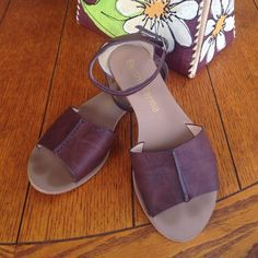 Electric Karma sandals Brown sandals, size 8, dark brown with a touch of gold on the heel. Worn maybe 4 times. Electric Karma Shoes Sandals
