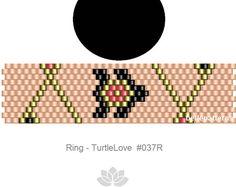 peyote ring pattern,PDF-Download, #037R, beaded ring pattern, beading tutorials, ring pattern