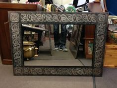 """Morning all! Looking for a unique, stunning gift? This Mirror (36""""x50"""")is $160 and a perfect holiday pressie! At Black Pearl Emporium"""