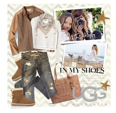 """On the Road with UGG: Contest Entry"" by houseofhauteness ❤ liked on Polyvore featuring Kreme Life, UGG Australia, FOSSIL, Rebecca Taylor, Abercrombie & Fitch and ESCADA"