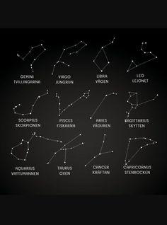 Min 8-åriga dotter har precis haft läxa om stjärntecken. Vi började prata om vilka olika stjärntecken vi hade och titta på hur dom ser ut på himlen. Jag kände att jag behövde lära mig lite mer om detta så det här inlägget kommer att handla om våra stjärntecken. Stenbocken (22/12 - 19/1) Hö