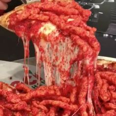 HOT Cheetos Pizza from scratch! OMG!  vc: @losangeles_eats  Snapchat : foodyfetish