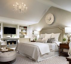 I loved this room when Candace Olson did it on her show!! Classic Chic Home: Bedrooms Designed with Serenity in Mind.  Cathedral ceiling