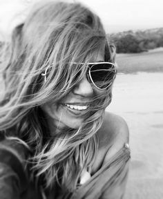 Blondie smile rayban alexandra alessa grancanaria oceanatlantic longhair