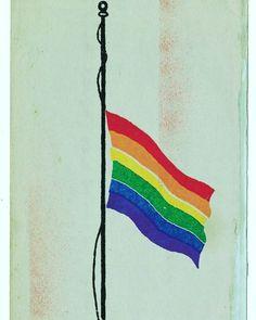 Do Luto à Luta  Vivemos de luto pela morte dos nossos mas estamos sempre na luta para que o mundo seja um lugar melhor sem preconceito e discriminação.  #lgbt #rainbow #flag #gay #gaybrasil #pride