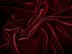burgundy silk velvet