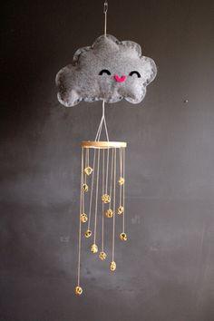 Rain cloud dew drop mobile