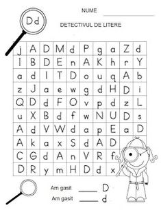 Letter Detectives Worksheets Aa to Zz Letter Worksheets, Kindergarten Worksheets, Preschool Writing, Kids Education, Kids Learning, Detective, Activities For Kids, Homeschooling, Lettering