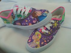 Disney Princess Tangled Shoes by LaurasMagicalMoments on Etsy, $75.00