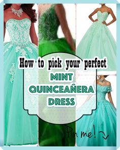 Mint Quinceanera dress - Need help on setting up a quinceanera including lists and tips? Begin shopping for your Quinceanera dress and accessories. Decide on your honor the bid day of yours with the subsequent tips. Mint Quinceanera Dresses, Quinceanera Party, Prom Dresses, Bid Day, Social Events, Adolescence, Special Day, American Girl, Wedding Day