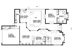 **** First Floor For House Plan 093D-0002
