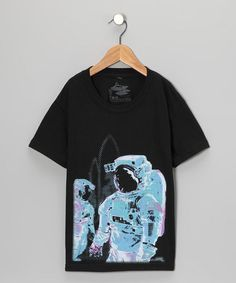 Black Spaceman Tee from UCHUUSEN on #zulily #cool #kids tee