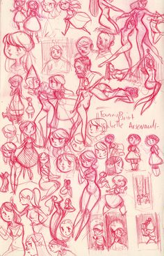 Assorted Sketch Pages: Winter 2013 - Spring 2014 on Behance