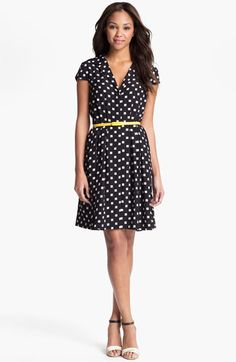 Suzi Chin Maggy Boutique Belted Print Dress