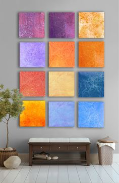 Summer Abstract art  huge abstract Painting  12 by TwistOfUnique, $480.00 -- watercolor on wood, awesome!