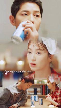Descendants Of The Sun Korean Drama Series, Korean Drama Quotes, Songsong Couple, Best Couple, Descendants Of The Sun Wallpaper, Song Joong Ki Birthday, Decendants Of The Sun, Sun Song, Song Joon Ki