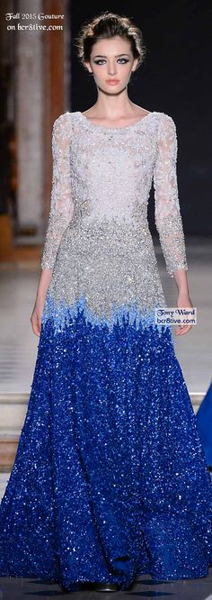 + blue turban hijab it would be awsome Tony Ward Fall 2015 Couture Women's Dresses, Elegant Dresses, Pretty Dresses, Fashion Dresses, Modest Fashion, Rome Fashion, Runway Fashion, Tony Ward, Elie Saab