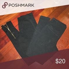 2 pairs of leggings Leggings with zipper are from Eyecandy (zipper is symmetrical on other pant leg) and leggings on the right are plain black from Jockey. Both are smalls Pants Leggings