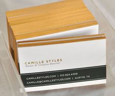 Give your business cards a touch of glam with gold spray paint!