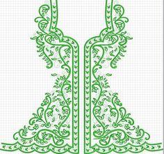 البترونات فتلة Indian Embroidery, Embroidery Patterns, Machine Embroidery, Stitch Patterns, Embroidery Dress, Irish Crochet, Crochet Motif, Le Polo, Arabesque