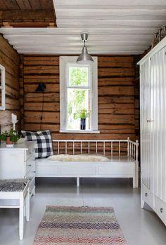 Log Homes, Loft, Patio, Bed, House, Furniture, Home Decor, Log Cabins, Finland