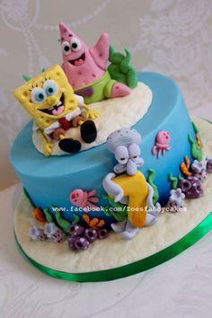 Zoé Camping Birthday Cake, Spongebob Birthday Party, Cake Cookies, Cupcake Cakes, Zoe Cake, Zoes Fancy Cakes, Summer Cakes, Character Cakes, Disney Cakes