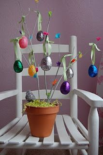 Glitter Easter Egg Tree