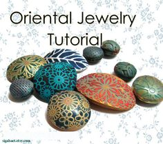 Polymer Clay PDF tutorial - Oriental Textures by sigalsart on Etsy