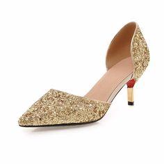 Mulheres Sapatos Da Moda Sapatos de Pano de Lantejoulas sapatos de Salto Alto Bombas Bombas Mulheres Elegantes Luxo Glitter Prateado Ouro Bombas da Festa de Casamento Da Noiva Bombas em Bombas das mulheres de Sapatos no AliExpress.com | Alibaba Group
