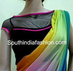 sheer net blouse designs