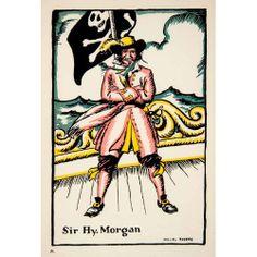 1930 Print Sir Henry Morgan Admiral Royal Navy Pirate Caribbean Jolly