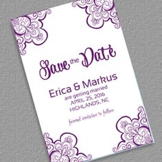 Save the Date with Vintage Ornament Borders