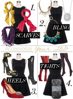 How To Accessorize A Little Black Dress For Holiday Parties At Http Scarlettlillian