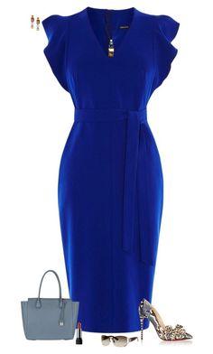Deep blue by julietajj on Polyvore featuring polyvore fashion style Karen Millen Christian Louboutin MICHAEL Michael Kors Ippolita Gucci clothing