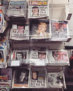 London mourns the death of Bowie. One of the few things that could knock Prince James off the covers!