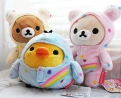 Ahhh so cute! Rilakkuma plushies in one piece jammies