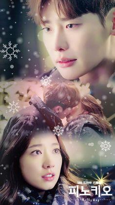 Lee Jong Suk and Park Shin Hye in Pinocchio Lee Jong Suk Cute, Lee Jung Suk, Lee Hyun, Park Shin Hye, Korean Actresses, Korean Actors, Kdrama Wallpaper, Lee Jong Suk Pinocchio, Live Action