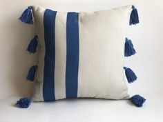 The bohemian look throws all the interior decorating rules out the window. When you embrace boho home decor, you get to decorate however you want. Cricut, Grey Pillows, Hand Sketch, Bohemian Pillows, Pillow Forms, Cotton Pillow, Boho Decor, Blue Stripes, Decorative Throw Pillows