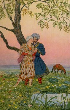 Tarot of the Thousand and One Nights - The Lovers
