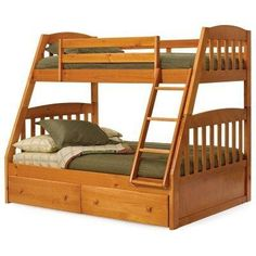 Logan Honey Mission Twin over Full Bunk Bed