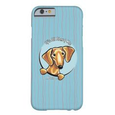 #Animals                                        Smooth Red Dachshund IAAM Barely There iPhone 6 Case                   It's all about the smooth red Dachshund! Original design for merchandise by Andie of Off-Leash Art using her own hand drawn illustration. Andie aims to capture the unique characteristics of each breed so that more people will have the opportunity to own something that has a drawing that looks like THEIR..