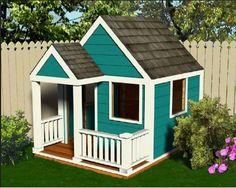 projeto p/ construção casinha em madeira p/ crianças ref.134