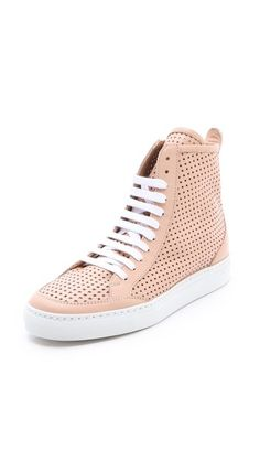 Shoes / MM6 Maison Martin Margiela Perforated High Top Sneakers |2013 Fashion High Heels|