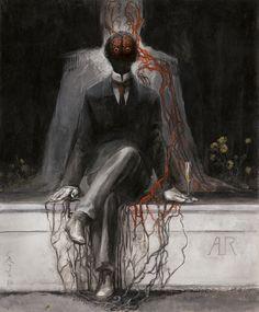 Иллюстрации аргентинского художника Сантьяго Карузо (Santiago Caruso) к новому изданию «Ужина» (La Cena) Альфонсо Рейеса (Alfonso Reyes)