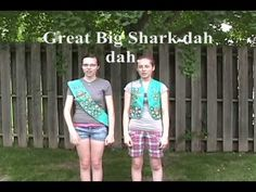 Learn the Shark Song! Scout Mom, Daisy Girl Scouts, Boy Scouts, Girl Scout Songs, Girl Scout Leader, Scout Games, Girl Scout Activities, Camp Songs, Kids Songs