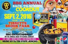 "Next Friday make sure you head out to Tibbetts Brook Park from 10am-8pm for the @BBG_Ent back to school cookout. There will be food face painting bounce house and school supplies giveaway and non stop music by the ""Voice of Westchester"" @music_by_jericko @EpicTeam6 will be donating book bags and school supplies so make everyone comes out to support this great event that's giving back to the youth and community! #epicteam6 #et6nation #fashion #clothing #apparel #label #brand #streetstyle…"