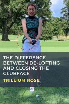 Trillium Rose shows that when you want to hit a lower shot, de-loft your club, don't close the face. #golf #golftip #golfswing #golflessons #womensgolf Golf Terms, Golf Score, Golf Chipping, Golf Instruction, Golf Putting, Golf Exercises, Golf Training, Golf Irons, Golf Lessons