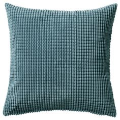 IKEA - GULLKLOCKA, Cushion cover, , Chenille fabric feels ultra soft against your skin.The zipper makes the cover easy to remove. Couch Pillow Covers, Neutral Pillows, Cushions On Sofa, Classic Cushion Covers, Classic Cushions, Blue Cushion Covers, Chenille Fabric, Blue Fabric, Home