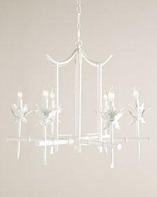 Bamboo-Motif 6-Light Chandelier